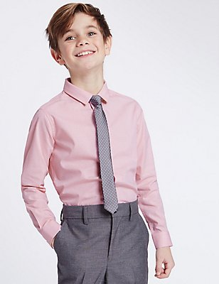 Spotted Shirt with Tie (3-14 Years), PINK MIX, catlanding