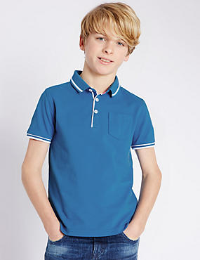 Pure Cotton Polo Shirt (5-14 Years)
