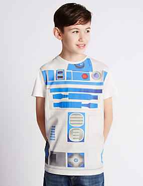 Pure Cotton Star Wars™ R2-D2 T-Shirt (5-14 Years)