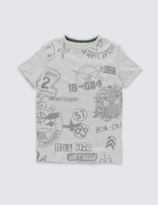Хлопковая футболка с графикой для мальчика 5-14 лет