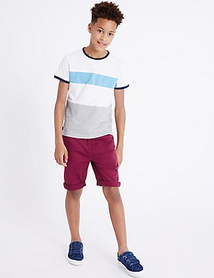 Cotton Rich Shorts (3-14 Years), CLARET, catlanding