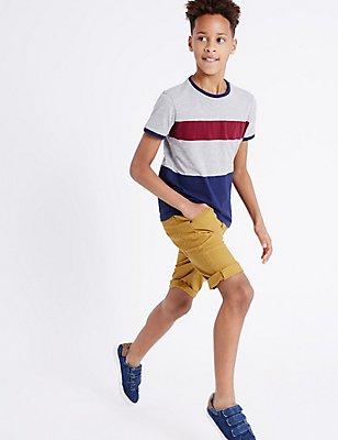 Cotton Rich Shorts (3-14 Years), OCHRE, catlanding