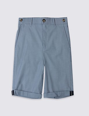 Cotton Rich Chino Shorts (3-14 Years), BLUE MIX, catlanding