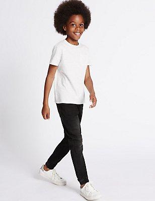 Cotton Rich Jean (3-14 Years), BLACK DENIM, catlanding