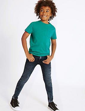 PLUS Skinny Jeans with Stretch (3-16 Years), DENIM, catlanding
