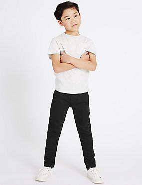 PLUS Skinny Jeans with Stretch (3-16 Years), BLACK, catlanding