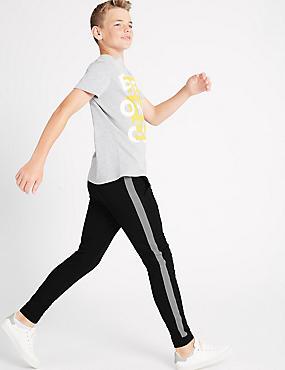 Jogging en coton (du 3 au 14ans), NOIR, catlanding