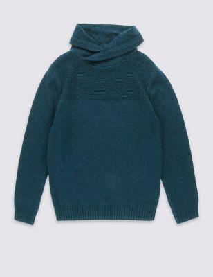 Текстурный джемпер Teal с воротником-шалькой для мальчика 5-14 лет T874637N