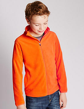 Zipped Through Fleece Top (5-14 Years)