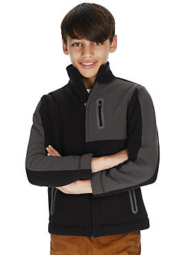 Colour Block Bonded Fleece Lined Jacket (5-14 Years)