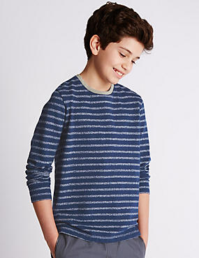 Cotton Rich Striped T-Shirt (5-14 Years)
