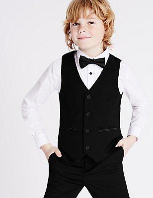 Tuxedo Waistcoat (3-14 Years), BLACK, catlanding