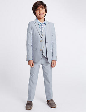Oxford Trousers (3-14 Years), GREY, catlanding