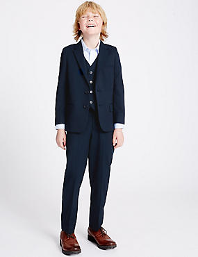 Tailored Fit Trousers (3-14 Years), NAVY, catlanding