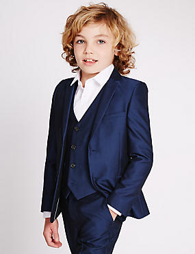 Slim Fit Blazer (3-14 Years), BRIGHT BLUE, catlanding
