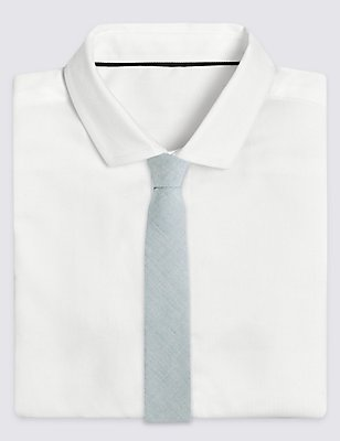 Cotton Rich Chambray Tie (5-14 Years), MINT, catlanding