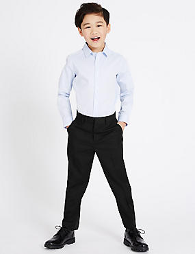 Tailored Fit Trousers (3-14 Years), BLACK, catlanding