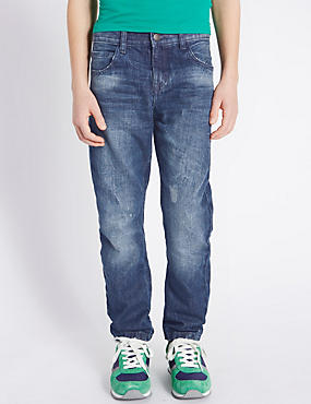 Pure Cotton Denim Jeans (5-14 Years)