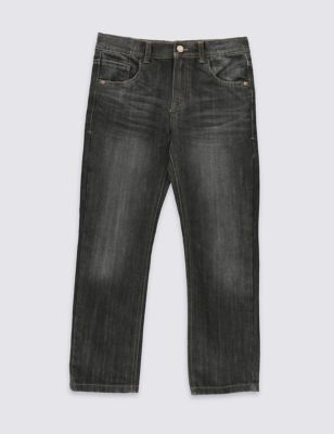 Прямые джинсы с потертостями для мальчика 5-14 лет