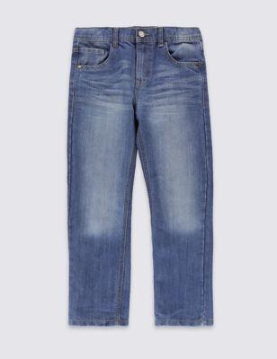 Прямые джинсы из премиального денима для мальчика 5-14 лет M&S Collection T875924U