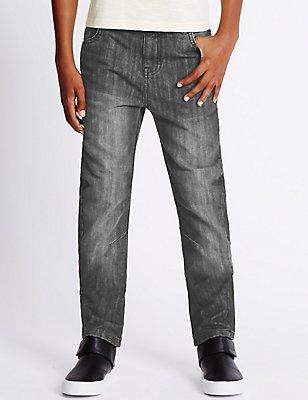 Adjustable Waist Oleg Jeans (3-14 Years), GREY, catlanding