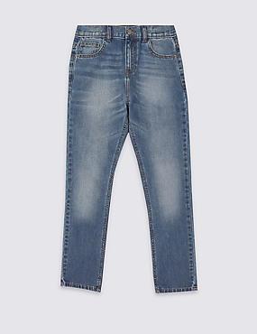 Jeans van puur katoen (3-14 jaar), DENIM, catlanding