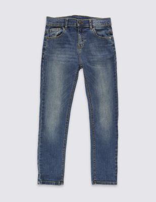 Классические джинсы с добавлением стретча и регулируемым поясом для мальчика 3-14 лет