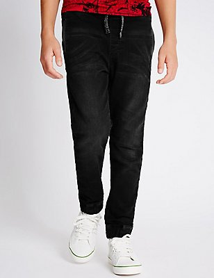 Jean Joggers (3-14 Years), BLACK, catlanding