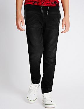 Jeans im Jogginghosenstil (3–14 Jahre), SCHWARZ, catlanding