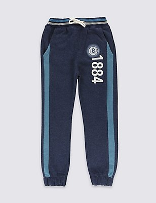 Cotton Rich Joggers (3-14 Years), DENIM, catlanding