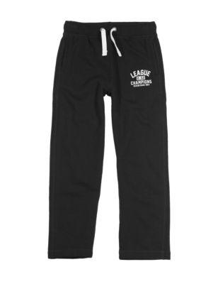 Хлопковые брюки джоггеры с широким поясом-резинкой для мальчика 5-14 лет T876059E
