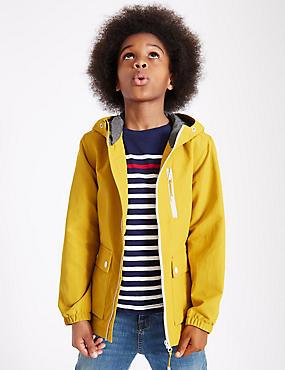 Hooded Anorak Jacket (3-14 Years), OCHRE, catlanding