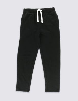 Хлопковые джоггеры с контрастным шнурком для мальчика 5-14 лет от Marks & Spencer