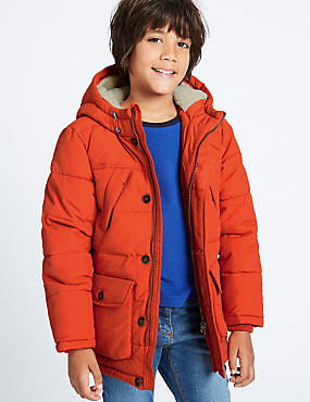Hooded Parka with Stormwear™ (3-14 Years), BRIGHT ORANGE, catlanding