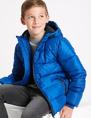 Zipped Through Padded Coat with Stormwear™ (3-14 Years), BLUE, catlanding