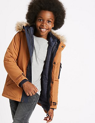 3 in 1 Parka Jacket with Stormwear™ (3-14 Years), BRIGHT BLUE, catlanding