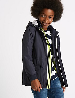 Hooded Jacket with Stormwear™ (3-14 Years), NAVY, catlanding