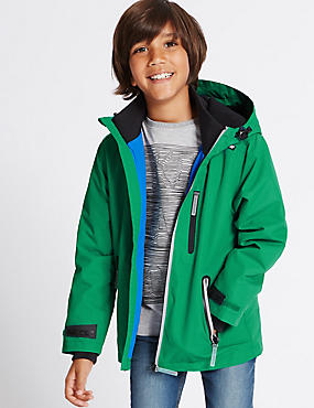 Zipped Through Jacket (3-14 Years), GREEN, catlanding