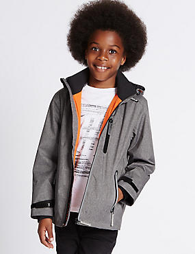 Textured Jacket with Stormwear™ (3-14 Years), GREY, catlanding