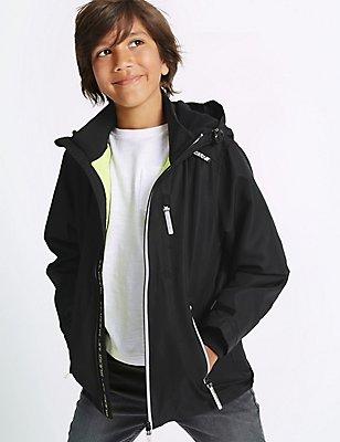 Zipped Through Jacket with Stormwear™ (3-14 Years), BLACK, catlanding