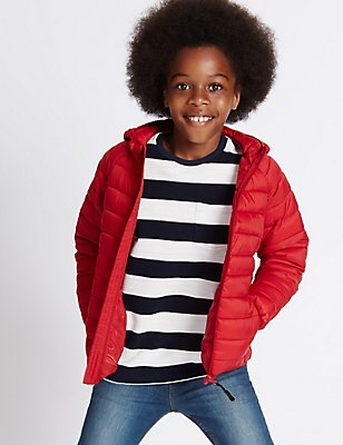 Lightweight Padded Coat with Stormwear™ (3-14 Years), RED, catlanding