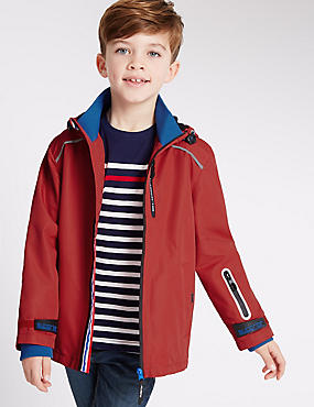 Zipped Technical Jacket (3-14 Years), RED, catlanding