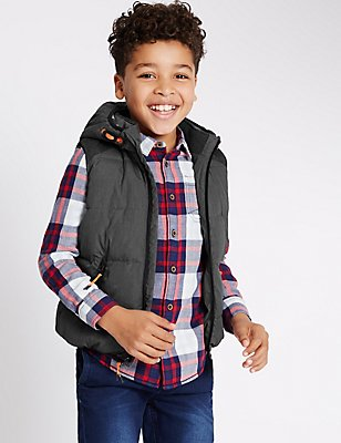 Sleeveless 2 Pocket Gilet (3-14 Years), GREY MIX, catlanding