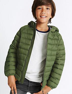 Lightweight Padded Coat with Stormwear™ (3-14 Years), Khaki, catlanding