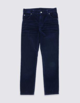Хлопковые вельветовые брюки для мальчика 5-14 лет от Marks & Spencer