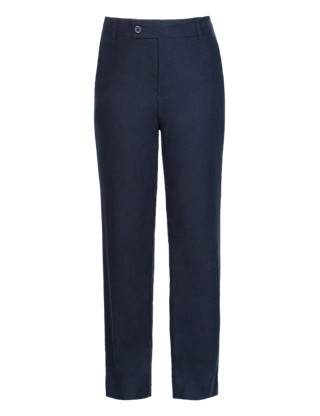 Linen Blend Adjustable Waist Trousers (5-14 Years) Clothing