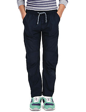 2 Pack Pure Cotton Pull On Trousers (5-14 Years)