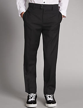 Tuxedo Trousers (5-14 Years), BLACK, catlanding