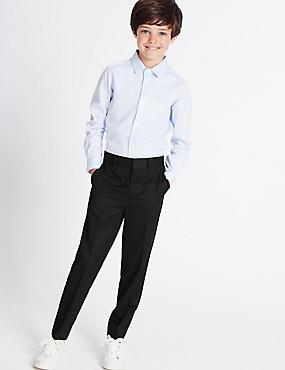 Single Pleated Trousers (5-14 Years), BLACK, catlanding