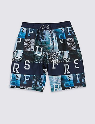 All Over Print Swim Shorts (3-14 Years), BLUE MIX, catlanding